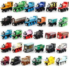 10 Pcs/Lot Thomas And Friends Mini Train Wooden Complete Set Of Car Toys #>=#>=#>=#>=#> Click on the pin to check out discount price, color, size, shipping, etc. Save and like it!