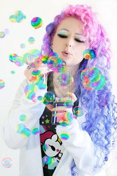Rainbow Bubbles by Melanie Dawn Harter