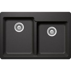 Buy Here: http://thd.co/1K2Hiwk SCHOCK ALIVE CRISTADUR ALIN175T088 Topmount Granite Composite 33 in. 0-Hole 60/40 Double Bowl Kitchen Sink in Stone #kitchensink #kitchensinks #kitchen #sinks #schock #granitesink