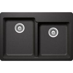 Buy Here: http://thd.co/1K2Hiwk SCHOCK ALIVE CRISTADUR ALIN175T088 Topmount Granite Composite 33 in. 0-Hole 60/40 Double Bowl Kitchen Sink in Stone #kitchensink #kitchensinks #kitchen #sinks #schock #granitesink