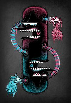 Twins by Mike Friedrich, via Behance