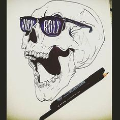 """""""Reality is inside the skull"""" Great artwork By @no.1976 #great#super#sketch#sketching#sketchbook#sketchpaper#skull#skulldraw#drawing#draw#drew#drawoftheday#blue#shades#skeleton#sunglass#art#arts#artwork#arty#artsy#instaart#artoftheday#feature"""