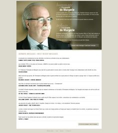 Memorial page on Total website after the sudden death of its CEO Christophe de Margerie, November 1, 2014. http://www.total.fr