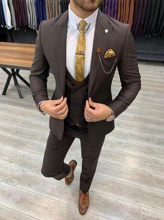Deo Suits – BOJONI Navy Slim Fit Suit, Slim Fit Tuxedo, Plaid Suit, Wool Suit, Business Outfits, Business Fashion, Mens Suits Online, Boy Fashion, Mens Fashion