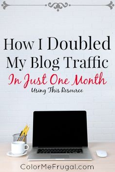 Want to increase blog traffic and income, but feeling stuck?  Find out which resources and strategies I used to more than double traffic to my blog (and increase income as well)!  And it keeps on increasing :-)