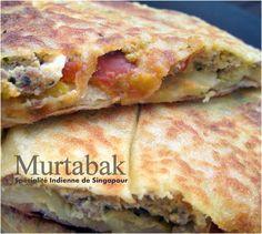 Murtabak crepe farcie, spécialité de Singapour