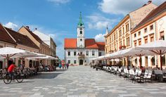 Photo about Shot of baroque town Varazdin, shot was taken on This view of Varazdin is often used to present beauty of Croatia. Image of century, monument, cathedral - 15665004 Need A Vacation, World Cities, Travel Memories, City Break, Day Trips, Places Ive Been, Slovenia, Street View, Pula
