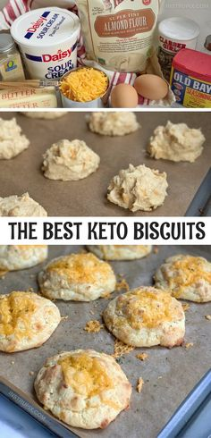 These are amazing! The Best Keto Biscuits, EVER! The BEST Keto Cheddar Biscuits - Instrupix Biscuits Au Cheddar, Biscuits Keto, Easy Biscuits, Queso Cheddar, Cheddar Cheese, Ketogenic Recipes, Low Carb Recipes, Diet Recipes, Cooking Recipes