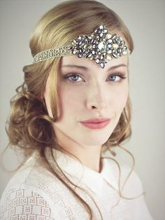Diamonds And Dust  Flapper Beaded Headband by BaroqueAndRoll