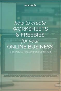 """We hear you! For months you've been asking """"how do I create editable worksheets?"""", well we now have your answer. Click on this post to watch 3 video tutorials showing you how to create worksheets/freebies and other lead magnets with Google Docs, Pages & InDesign. You then can use these resources to grow your audience or online business. Not to mention we have 3 free templates for you to grab too! Check it out now."""
