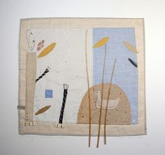 Janet Bolton. Swimming in Shallow Water, textile picture, framed, 50 x 50cm, £660