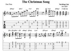 Jazz Guitar • The Christmas Song Chord Melody • Chords, Tab, Video Lessons • Nat King Cole