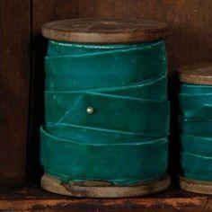 Blue/green velvet for bouquet wraps Brown Teal, Teal Green, Shades Of Turquoise, Shades Of Green, Textiles, Velvet Ribbon, Teal Ribbon, Photocollage, Green Velvet
