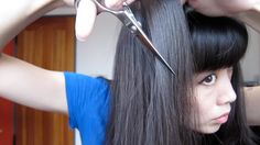 How to reduce hair volume and thickness using scissors or a razor....cut your blow drying time in half!