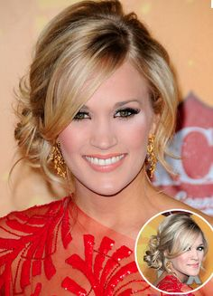 <3 Hair. this is def how I want the fringe in the front to look and i love the messy bun off to the side
