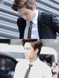 Goddamn handsome Kim Jongin Kai EXO in suit and tie <3 <3 <3