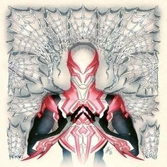 """SPIDER-MAN 2099#1 by Afu CHAN   Variant COVER """"Hip Hop""""   Beautiful COVERS of Marvel COMICS"""