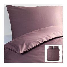 GÄSPA Bettwäscheset, 3-teilig IKEA Die Satinwebart verleiht der Baumwolle seidigen Glanz und hohe Schmiegsamkeit.