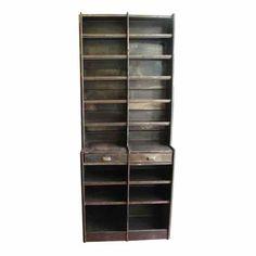 20th century steel bookshelf