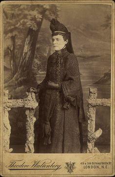 Full length crepe coat, ca. 1880