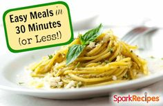 Healthy Meals in 30 Minutes or Less | via @SparkPeople #recipe #dinner #food #fast