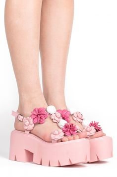 Jeffrey Campbell Shoes IVARA-FLR New Arrivals in Pink Combo