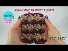 Tutorial rombos en relieve a crochet - YouTube