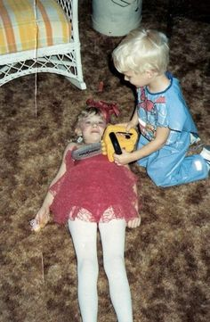 Little did the Gein family know that this play would one day turn to reality . Lil Ed Gein and his big sister Thelma. SO CREEPY! Evil People, Six Feet Under, Serial Killers, True Crime, Just In Case, Scary, Weird, Horror, Kids