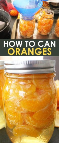 Learn how to can mandarin oranges for dessert recipes, smoothies, or to eat just plain! This water bath canning recipe is simple and perfect for beginners and gives the option of using sugar, honey, or plain water for the syrup! Easy Canning, Canning Tips, Canning Recipes, Canning Soup, Canning Labels, Water Bath Canning, Smoothie Recipes, Smoothies, Canning Vegetables