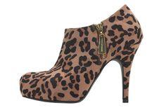 Leopard-print booties