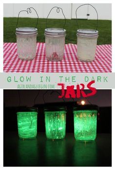 glow in the dark jars--a perfect kids camping craft!  a girlandagluegun.com