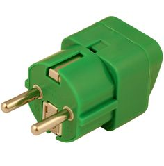 <p>Universal, grounded travel adapter accepts North American plugs and other international varieties to fit outlets of most European countries. The Green adapter can be used in 155 destinations that include regions other than Europe. Two electronic devices can be used with this adapter at once. </p><br /> <br />