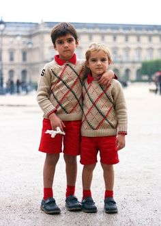 Little French boys.  I think Henri looked like the one on the left when he was young.