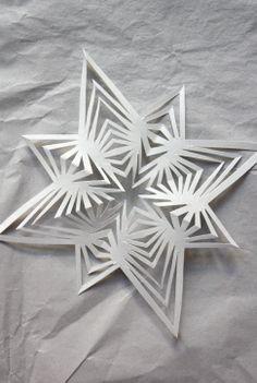 Schneeflocken aus Papier-Tutorial