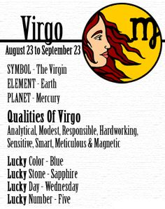 If you're one that was born between the dates of August September 22 then you're considered a Virgo. Virgos, just like the other zodiac signs, have many different traits. There's actually quite a bit of things to learn about the zodiac and that. Virgo Quotes, Zodiac Signs Virgo, Virgo Facts, Zodiac Horoscope, Zodiac Facts, Virgo Astrology, Astrology Houses, Zodiac Memes, Horoscope Signs