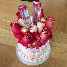 16th Birthday Cake For Girls, Number Birthday Cakes, 25th Birthday Cakes, Birthday Ideas, Alcohol Birthday Cake, Alcohol Cake, Alcohol Gifts, Liquor Cake, Liquor Cupcakes