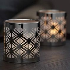 Enchanted Silver Votive Holder - Contemporary and chic, our photo-etched metal and mesh holder brings a sophisticated touch to any interior. For use with votives and tealights, sold separately. Tea Light Candles, Tea Lights, Candles Online, Votive Holder, Candels, Tea Light Holder, Modern Interior Design, Contemporary, Chic