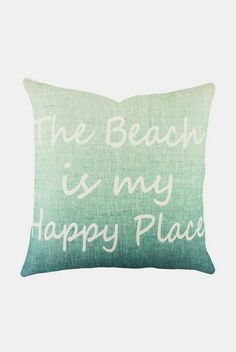 """Happy Place Pillow - Sail the Seas.  Definitely my """"happy place""""."""