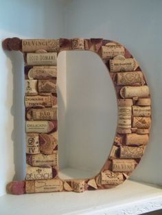 Wine Cork Letter D by MyMamaMaria on Etsy, $65.00