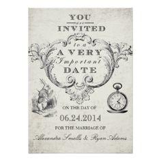 8fc008f4fc5 Alice In Wonderland Invitations   Announcements