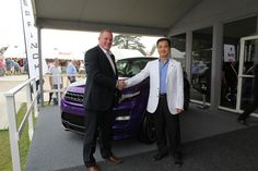 We were delighted that the Chairman of our Beijing distributor was able to unveil our new Evoque 2012 GTS at the Goodwood Festival of Speed with Overfinch Chairman Kevin Sloane.