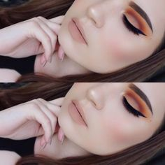 Makeup Geek Eyeshadows in Poppy, Chickadee, Cocoa Bear and Peach Smoothie. Look by: makeupbycarisssa