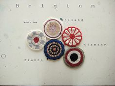 Beautiful potholders by Renilde Depeuter