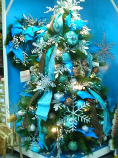 Xmas Stuff For > Christmas Tree Decorations Blue And Green