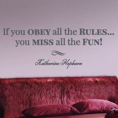 """Style and Apply Obey all the Rules Quote Wall Decal Color: Black, Size: 18"""" H x 79"""" W"""