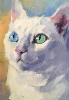 Daily Paintworks - - Original Fine Art for Sale - © Katya Minkina Animal Art Projects, Cat Sketch, Cat Drawing, Animal Paintings, Dog Art, Pet Portraits, Watercolor Paintings, Illustration Art, Images