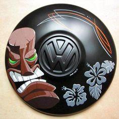 vw hubcap wall deco
