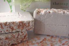 Handcrafted Vegan Soap Scrub Lavender Himalayan Pink Salt