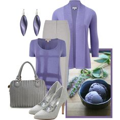Lilac Ice Cream by sassafrasgal on Polyvore featuring polyvore fashion style CC Burberry Reiss Deux Lux Alexis Bittar