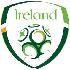 Ireland Football Team Badge - Republic of Ireland national football (soccer) team Football Squads, Football Team Logos, Soccer Logo, National Football Teams, Football Soccer, Soccer Teams, College Football, Sports Logos, Sports Teams